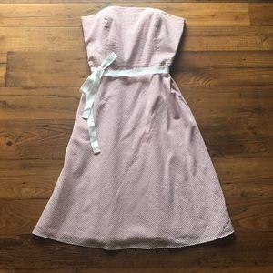 LOFT Dresses - NWT LOFT Strapless Striped Red and White Dress